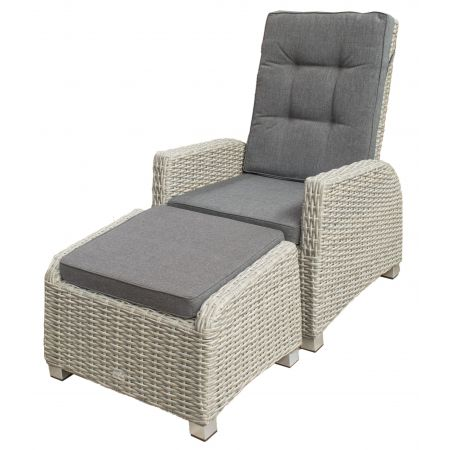 Pallene Loungestoel + Hocker (Grey)