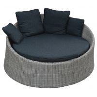 Pinto round bed 'naturel'